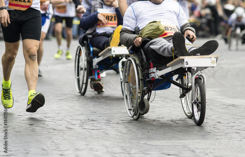 atleta disabile Canvas Print