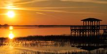 Twin Oaks Sunset / Sunset At Twin Oaks Lake Near Kissimmee, Florida