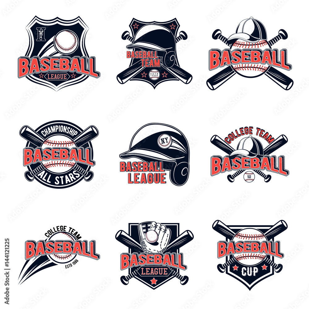 image regarding Printable College Logos named Picture Artwork Print Vector fastened of baseball emblems for your