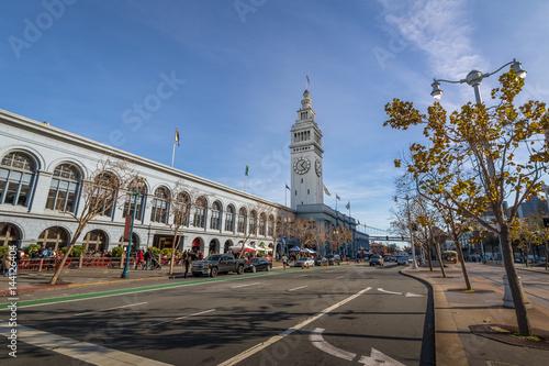 Photo sur Toile San Francisco San Francisco Ferry Building in Embarcadero - San Francisco, California, USA