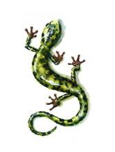 Watercolor Green Salamander Ha...