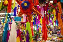 Pinatas In A Market