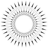 Geometryczny wzór kołowy. Abstrakcyjny motyw z promieniście przecinającymi się liniami - 144146667