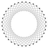 Geometryczny wzór kołowy. Abstrakcyjny motyw z promieniście przecinającymi się liniami - 144146685