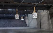 Target Rows At A Shooting Range.