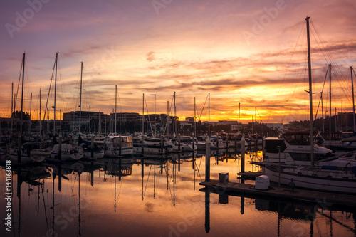 Keuken foto achterwand San Francisco Marina Sunset