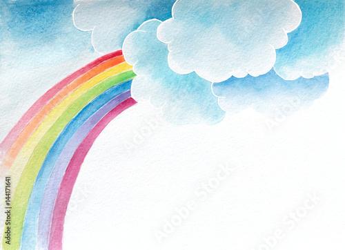 tlo-akwarela-z-chmurami