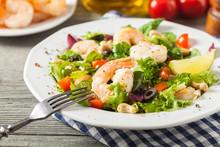 Shrimp Salad With Tomato, Oliv...