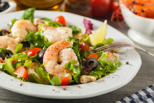 Shrimp Salad With Tomato, Oliv...