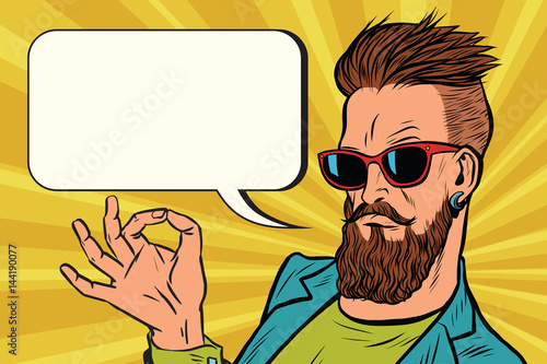 OK okay gesture hipster Wallpaper Mural