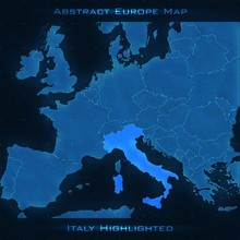 Europe Abstract Map. Italy Hig...