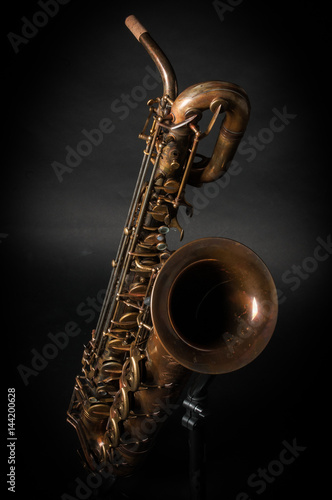 Photo vintage, music, instrument, musical, saxophone, sax, jazz, classical, background