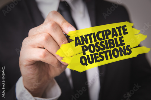Anticipate Possible Questions Canvas Print
