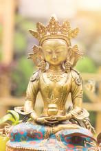 Buddha Amitayus Statue From Tibet. Buddhism, Meditation