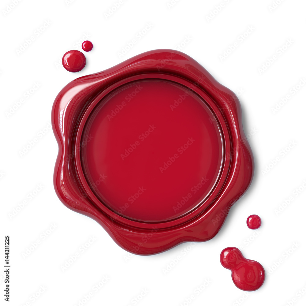 Fototapety, obrazy: Red wax seal