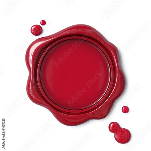 Red wax seal #144211225