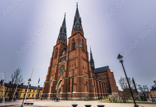 Uppsala - April 08, 2017 : Cathedral of Uppsala, Sweden