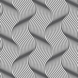 geometric waves pattern. Endless stylish texture. Ripple background. pattern is on swatch panel - 144219497