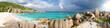Panorama Anse Marron Strand - Seychellen