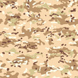 Modern Desert Multicam Camouflage seamless patterns. Military background and texture. Vector Illustration.