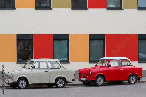 Fotografia  DDR Oldtimer Trabant Trabbi 601 und 500 501