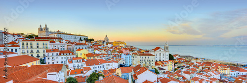 Lisbon Historical City Panorama, Alfama architecture