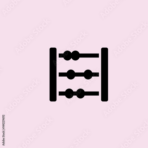 abacus icon. flat design Wallpaper Mural