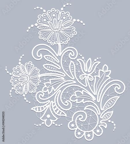 Floral lace pattern Canvas Print