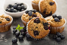 Vegan Banana Blueberry Muffins