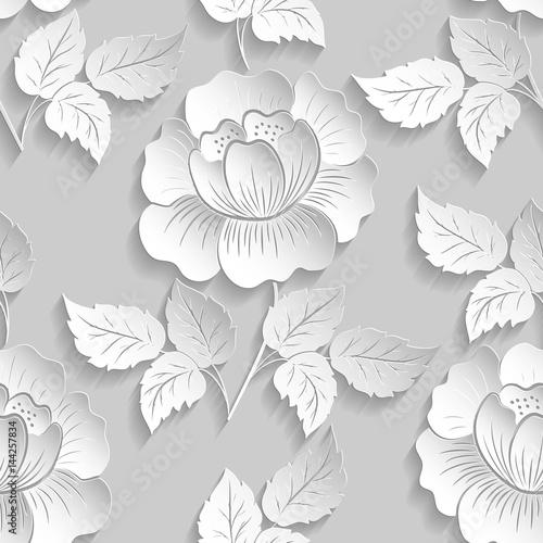 wycinanka-kwiatowy-wzor-3d-w-jasnych-barwach