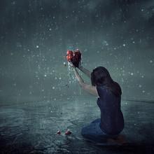 Broken Heart During Rain Storm