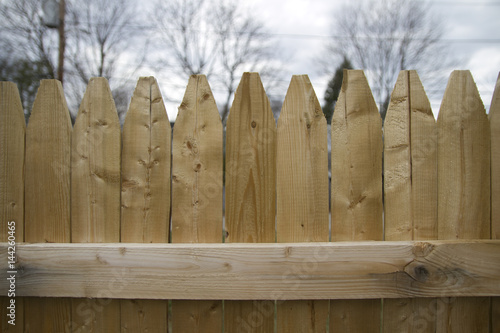 Vászonkép Wooden Stockade Fence
