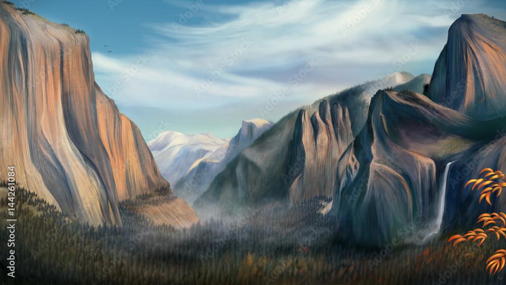 Yosemite - Digital Painting