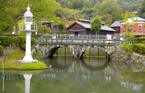 Photo  Nagoya, Japan - September 14: Meiji-mura open air architectural museum preserves historic buildings between 1867-1989 On September 14, 2014 Nagoya, Japan