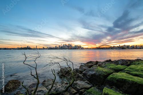 Sydney, Australia - November 6, 2016: View of the Opera House and Harbour Bridge Canvas Print