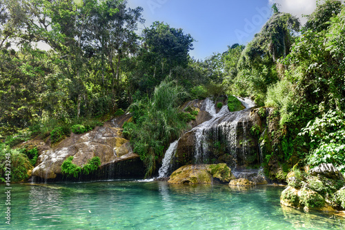 El Nicho Waterfalls in Cuba Canvas Print