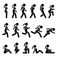Basic Woman Walk And Run Actio...
