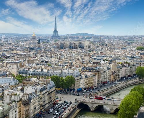 Papiers peints Paris View of western part of Paris from Cathedral Notre-Dame