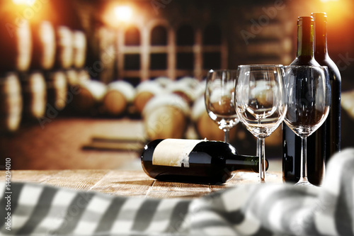 Foto op Plexiglas Wijn desk space of wine