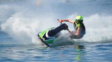 Jet Ski Competitor Cornering A...