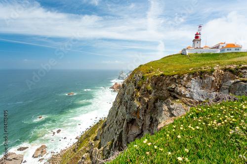 Garden Poster Lighthouse Cabo da roca, Portugal