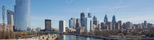 Cuadros en Lienzo Skyline view of Philadelphia, Pennsylvania - USA