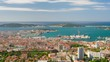 Zooming timelapse of Toulon in a spring day