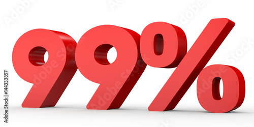 Photographie  Ninety nine percent off. Discount 99 %.