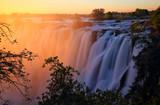 Victoria Falls at sunset. Zambia