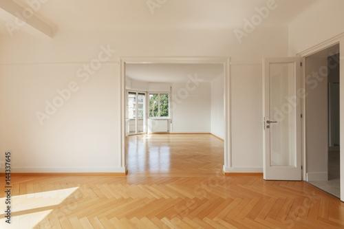 Fototapeta Modern apartment with a parquet floor obraz na płótnie