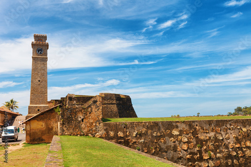 Papiers peints Fortification Anthonisz Memorial Clock Tower in Galle Historical Dutch Fort, Flag Rock Bastion, Sri Lanka