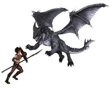 Dragon Warrior Boy Fighting A ...
