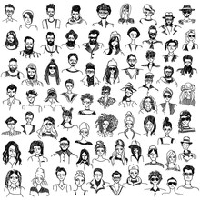 People Sketches Vector Set