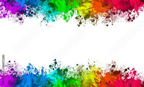 Fototapeta Multi-Color Paint Splatter Border/Background obraz